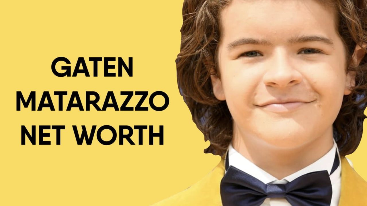 Gaten Matarazzo Net Worth
